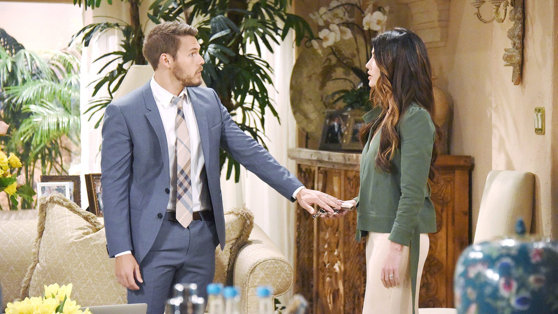 Steffy and Liam look for Eric after learning that he is in hiding with Sheila.
