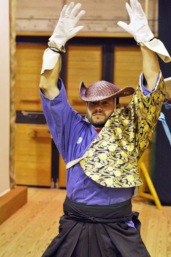 Justin Dresses as a Samurai