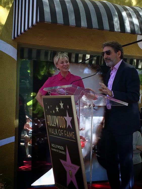 Chuck Lorre honors Kaley