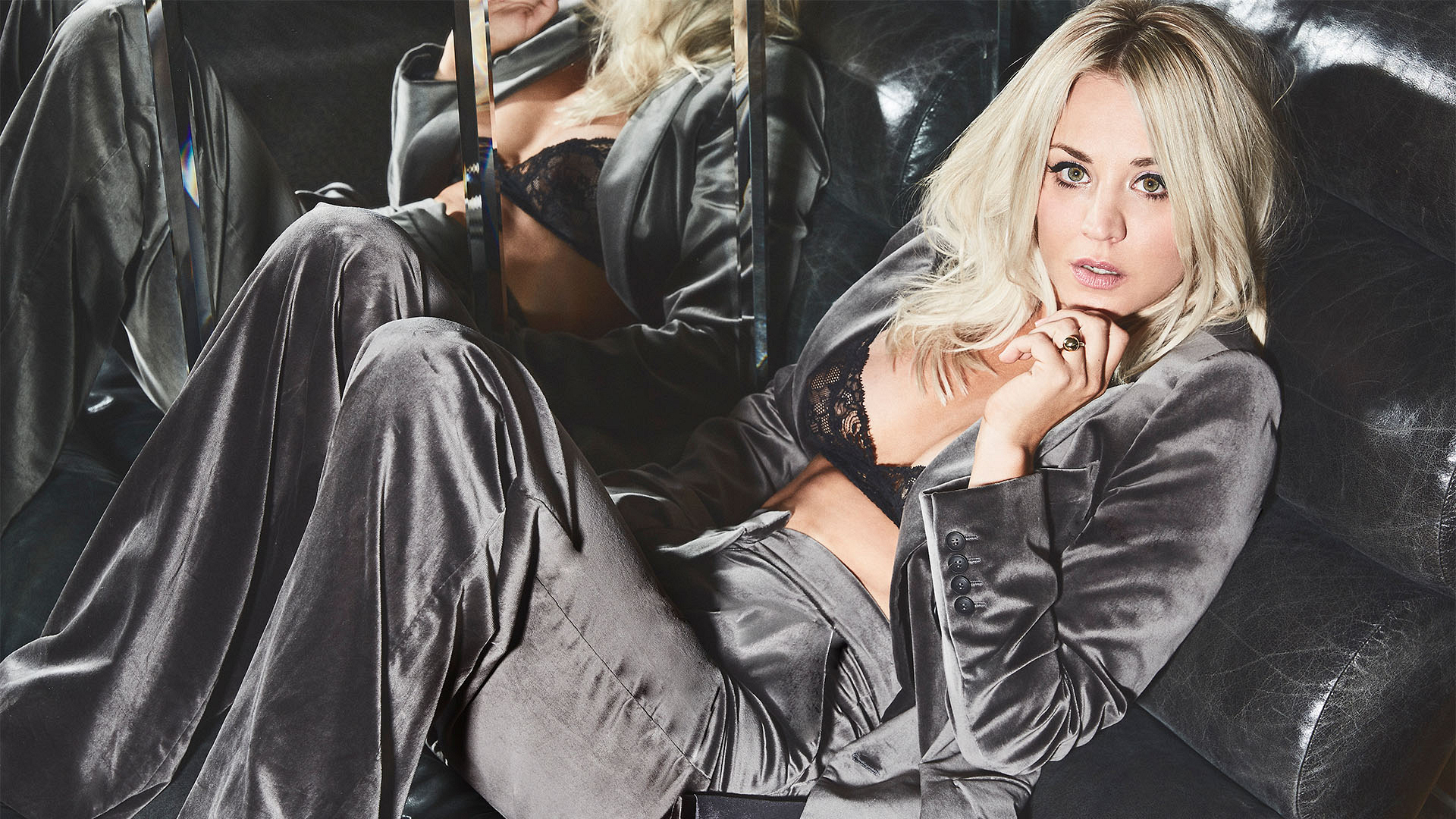 Kaley Cuoco is a silver belle
