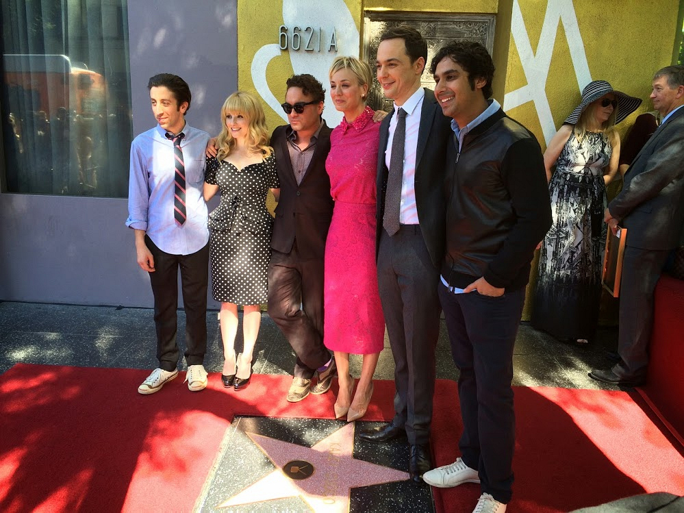 Kaley and her Big Bang Theory Costars
