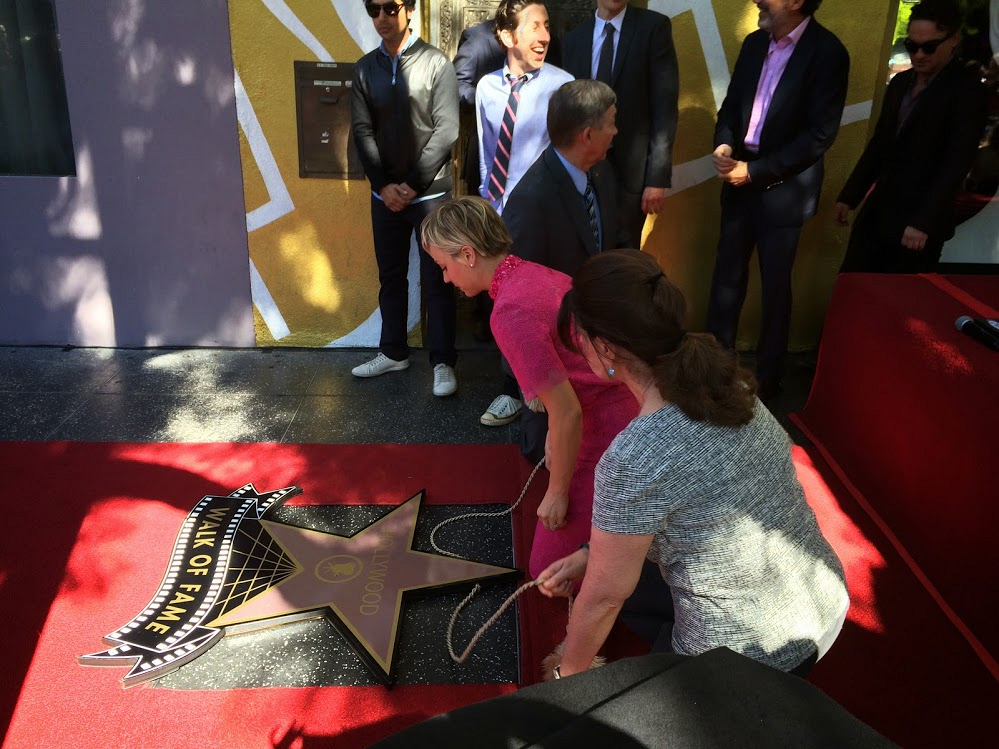 Kaley unveils her star