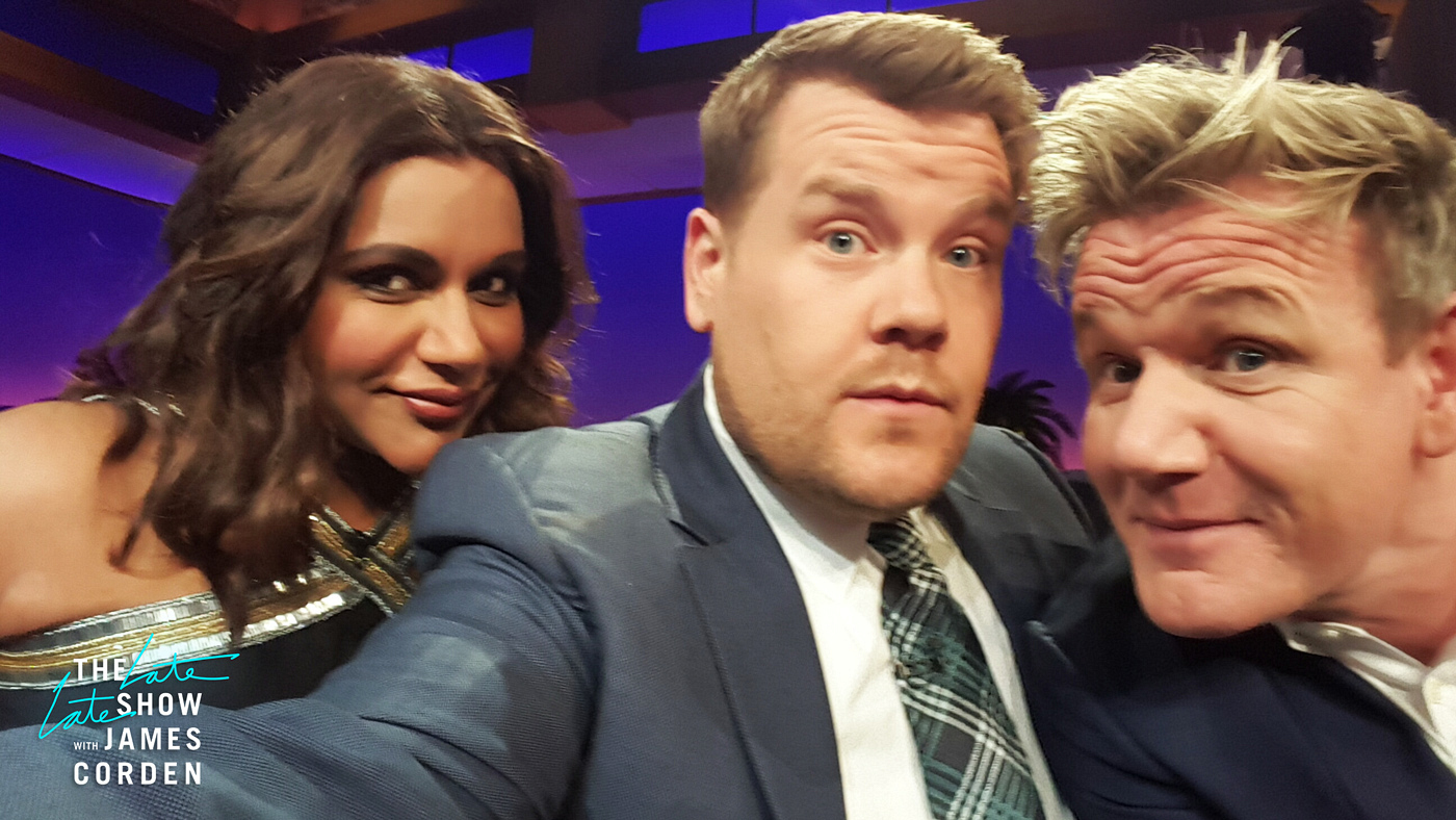 Mindy Kaling and Gordon Ramsay