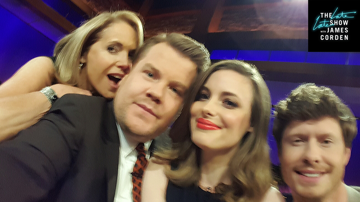 Katie Couric, Gillian Jacobs, and Anders Holm