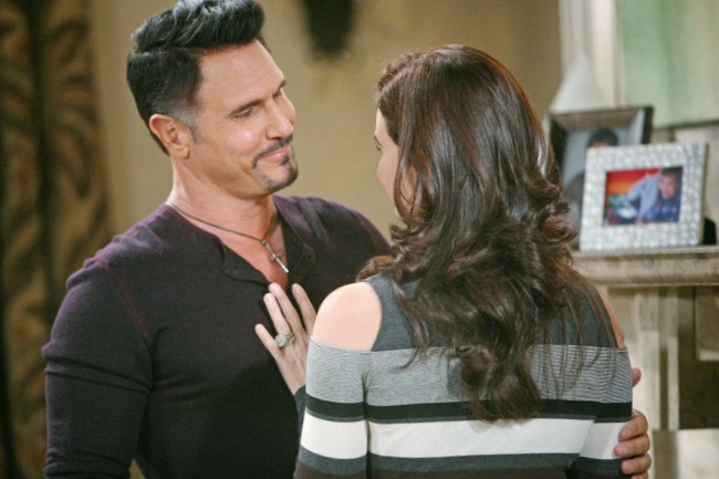 Katie cozies up to Bill.