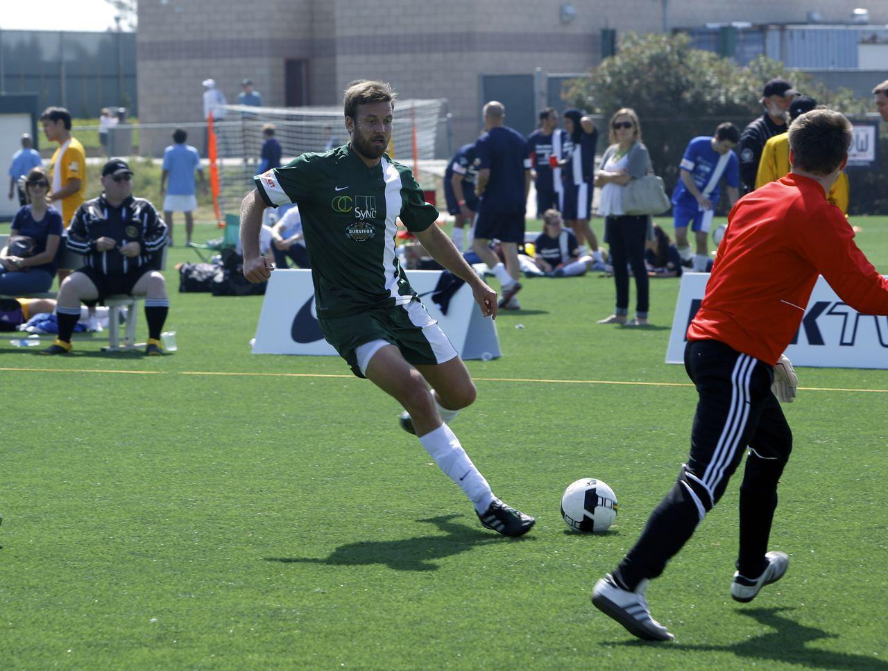 Aras plays soccer