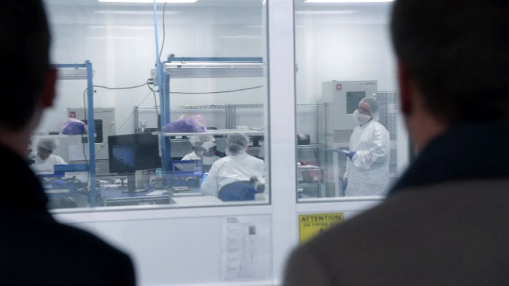 7. Workers in the lab were real-life lab technicians going about actual research.