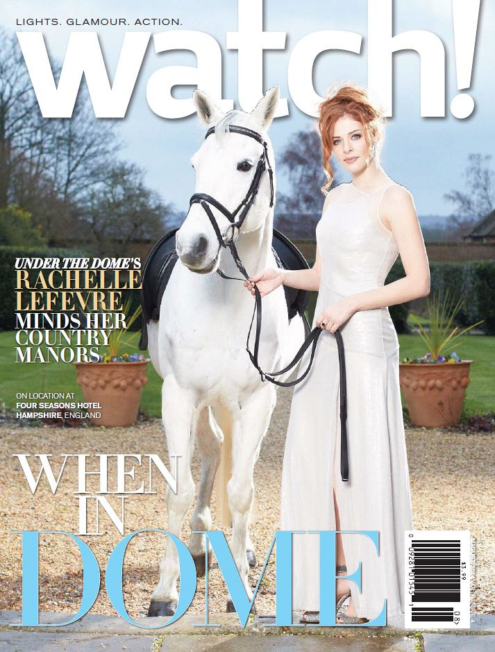 Rachelle Lefevre on the Cover of Watch! Magazine August 2014