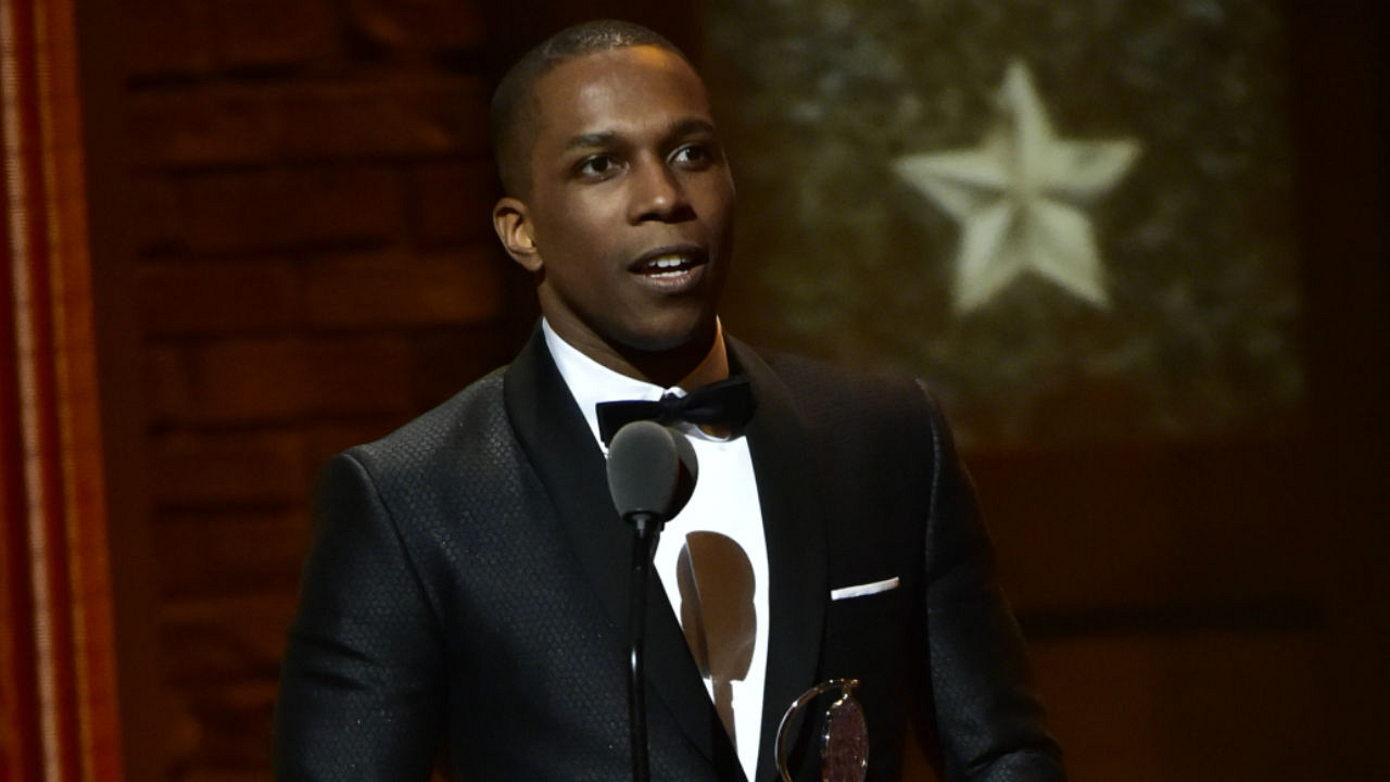 Leslie Odom, Jr. wins the 2016 Tony Award for Best Performance by an Actor in a Leading Role in a Musical.