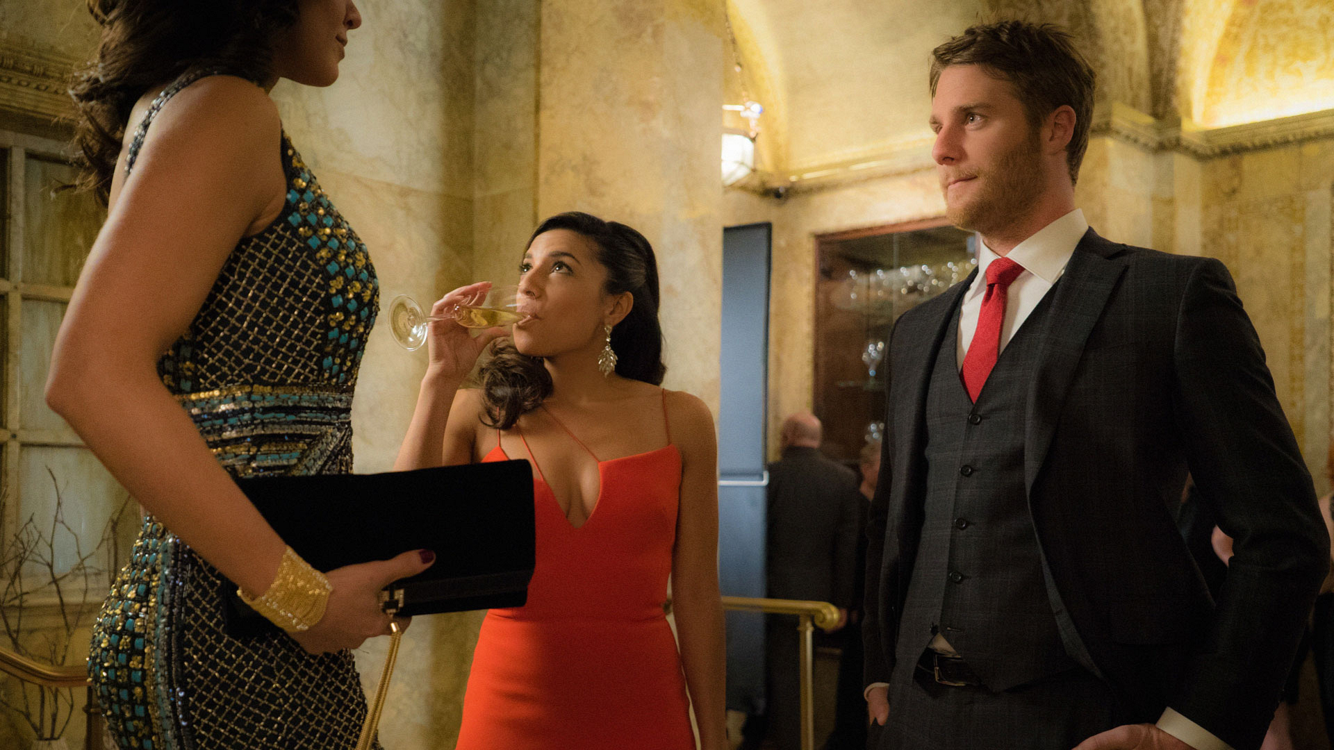 Christina Vidal as Lucy Church and Jake McDorman as Brian Finch