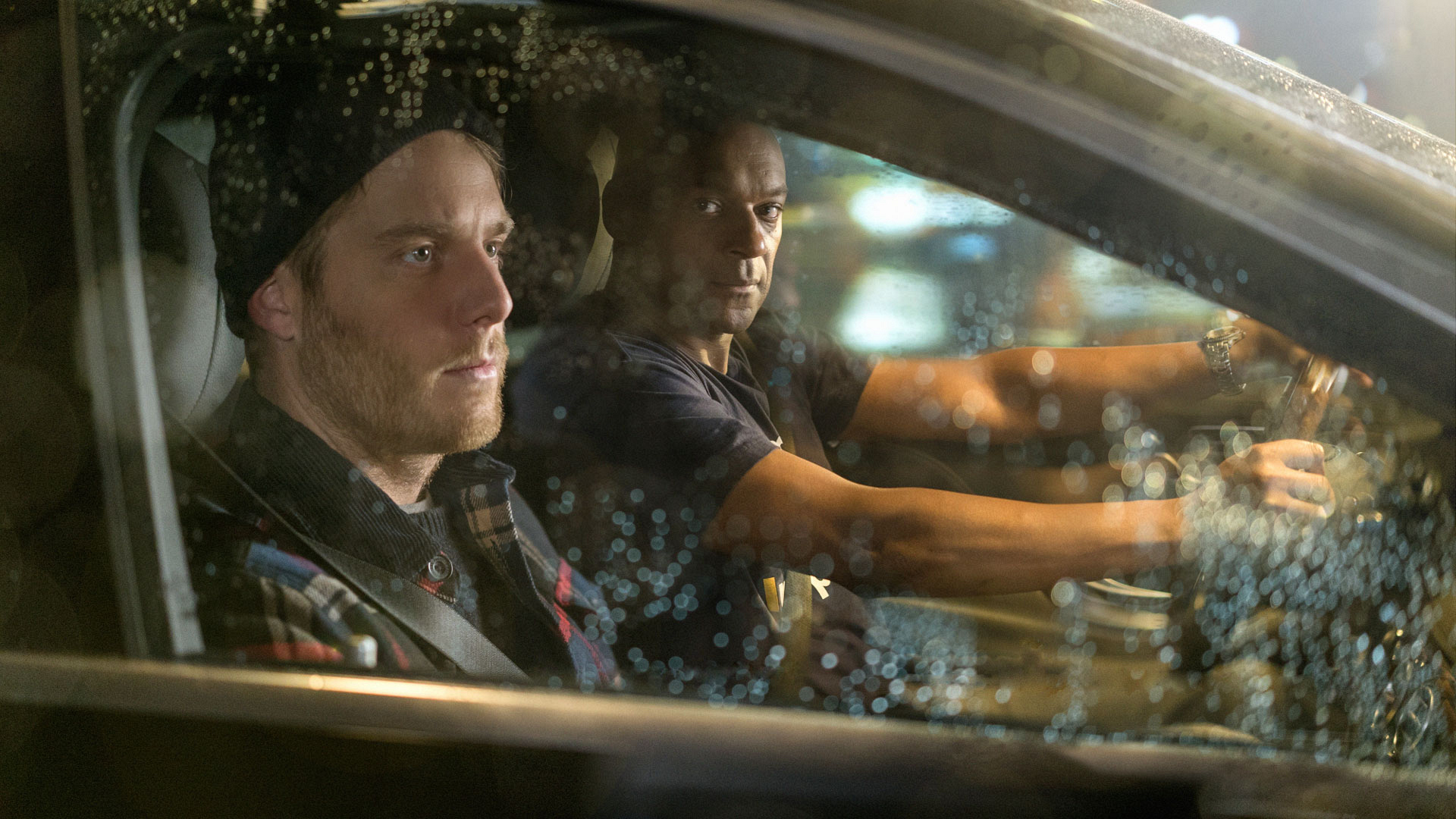 Jake McDorman as Brian Finch and Colin Salmon as Sands