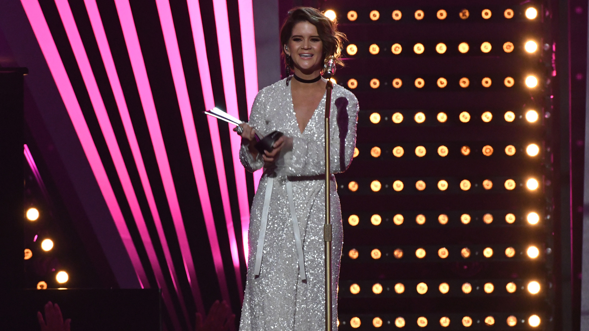 Maren Morris wins New Female Vocalist Of The Year presented by T-Mobile at the 52nd ACM Awards