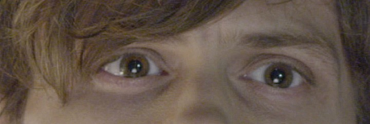 I spy the cutest nerd on TV.