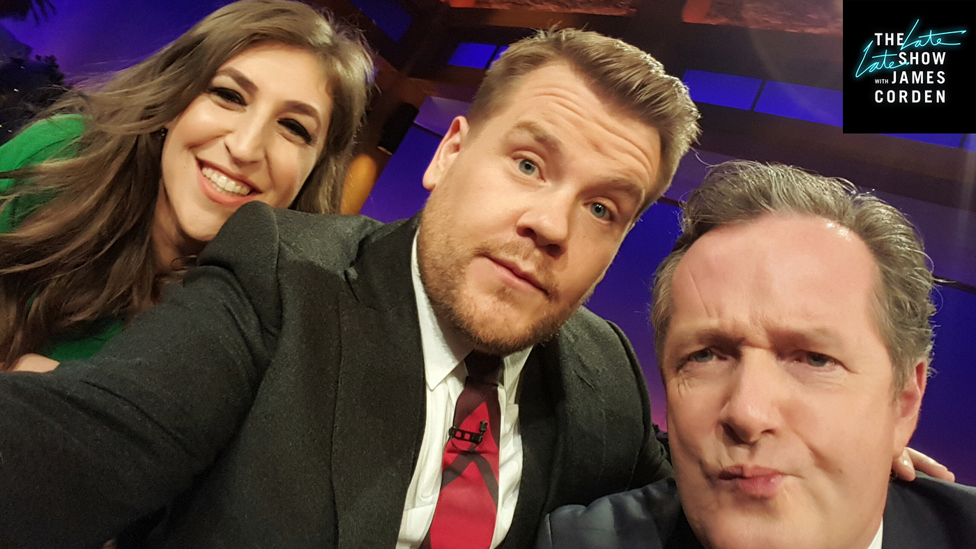 Mayim Bialik and Piers Morgan