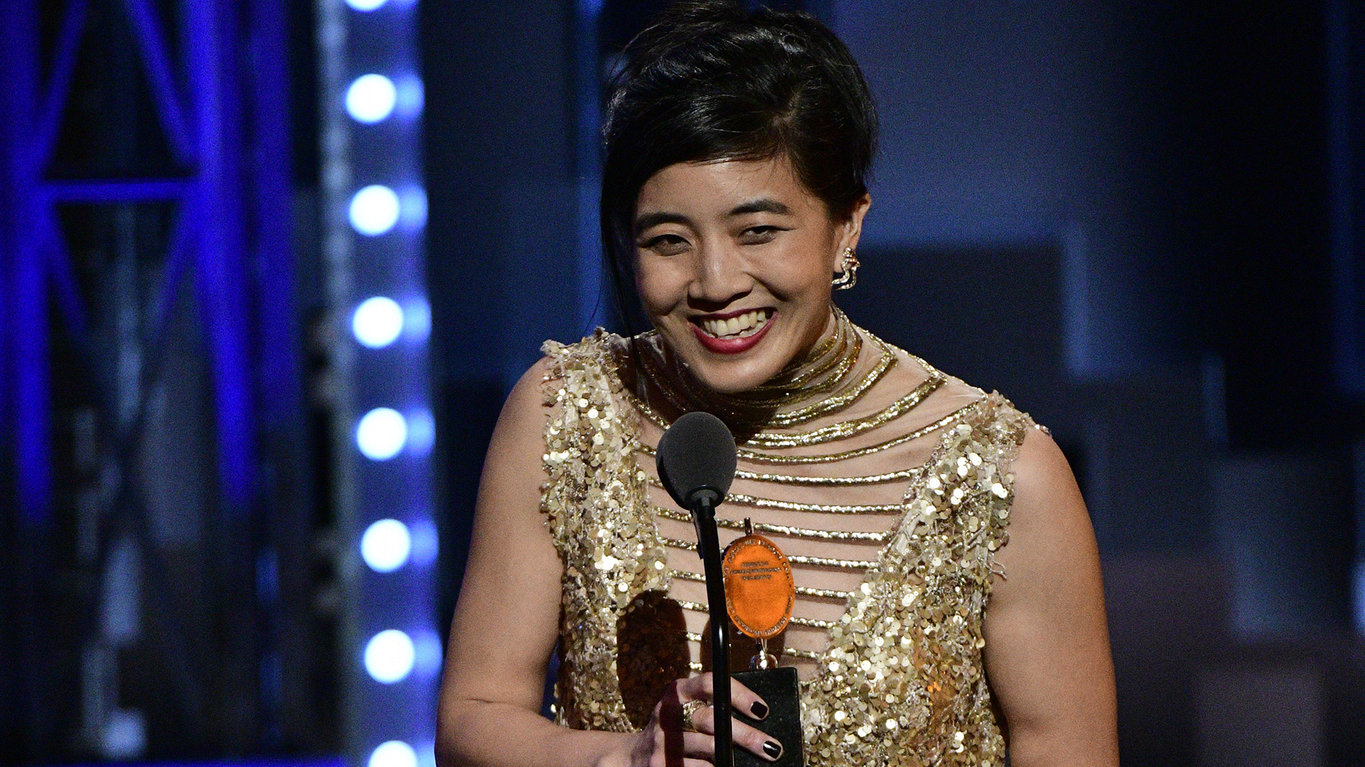 Mimi Lien wins the 71st Annual Tony Award for Best Scenic Design of a Musical