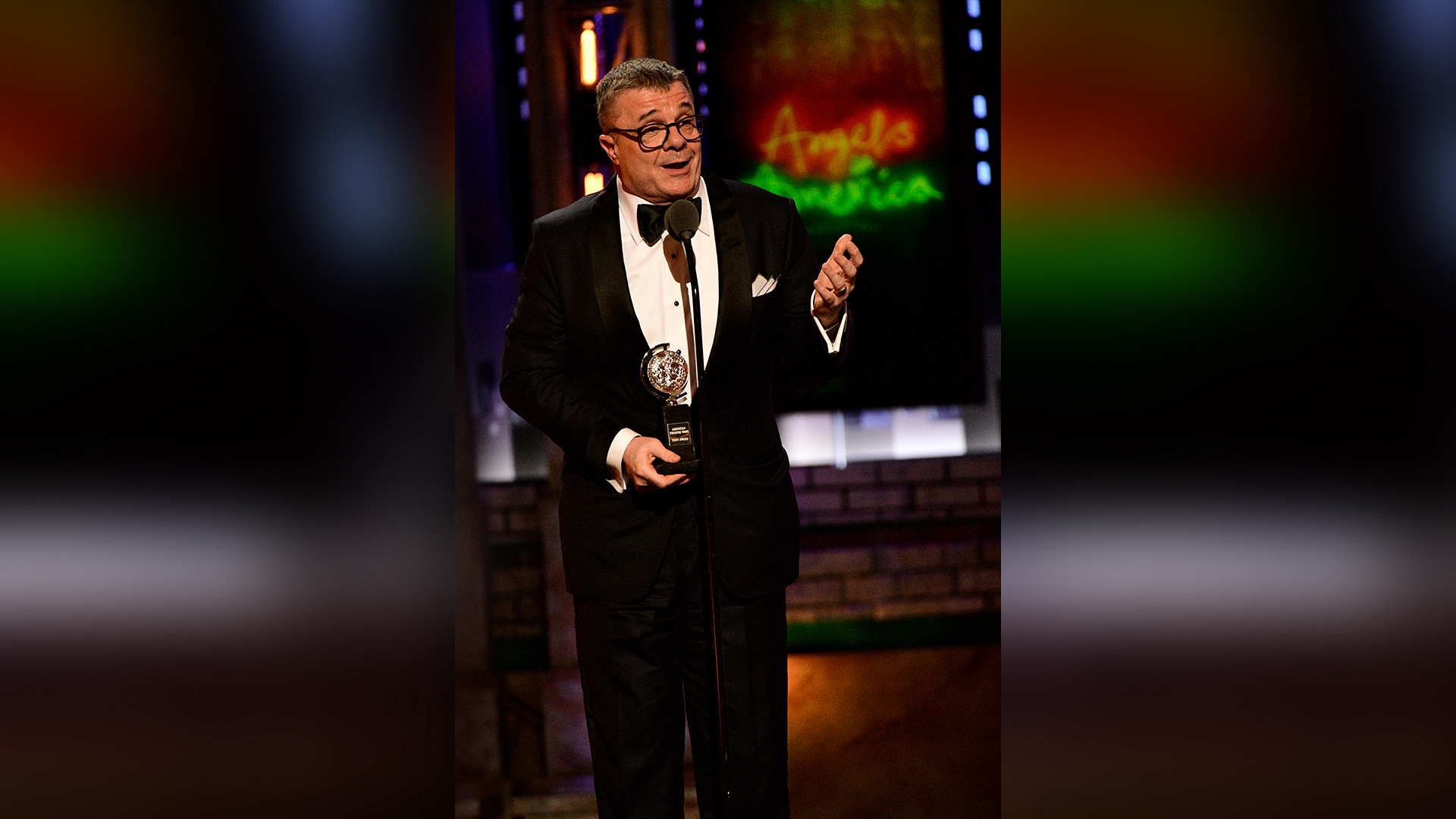 Nathan Lane wins Best Featured Actor in a Play at the 2018 Tony Awards.