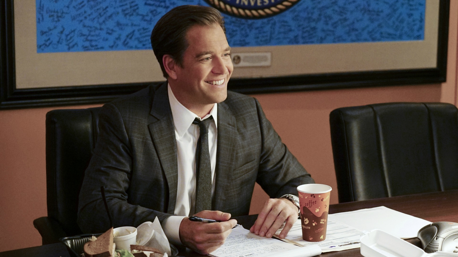DiNozzo flashes a charming smile.
