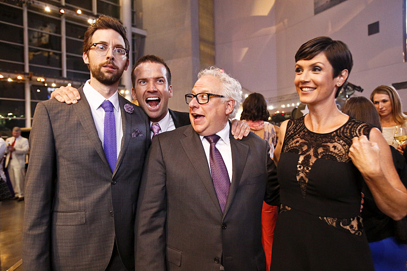 Rob Kerkovich, Lucas Black, Executive Producer Gary Glasberg, and Zoe McLellan