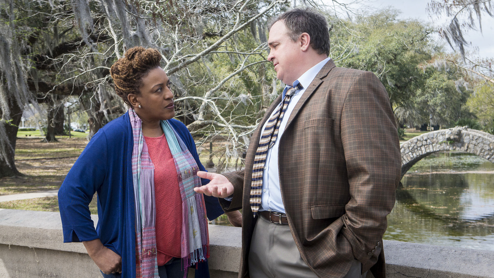 CCH Pounder as Dr. Loretta Wade and Gary Basaraba as Dr. Steven Bellamy