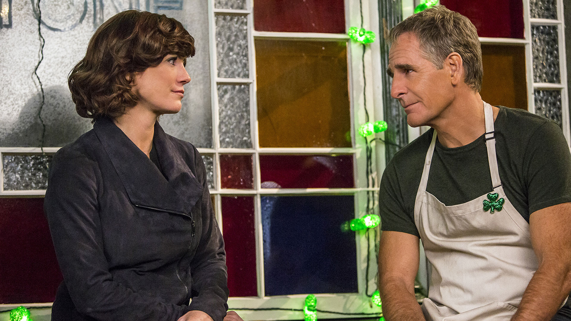 Zoe McLellan as Meredith Brody and Scott Bakula as Dwayne Pride