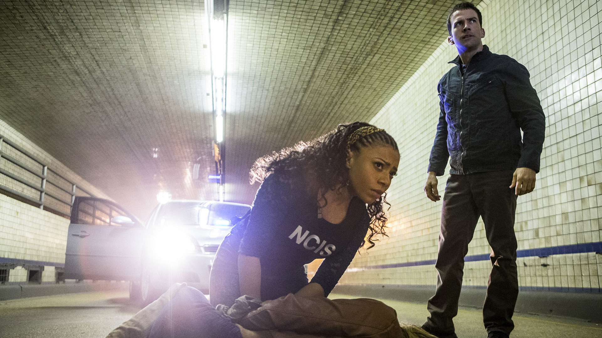 Shalita Grant as Sonja Percy and Lucas Black as Christopher LaSalle