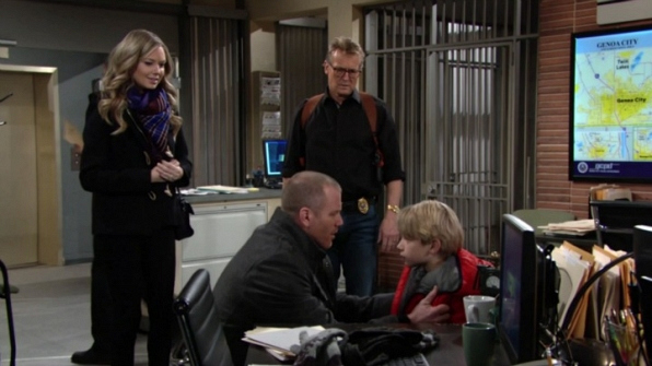 Stitch's son made an unexpected appearance in Genoa City.