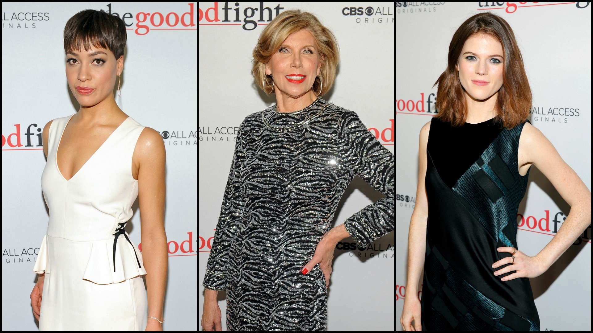 See The Good Fight stars' red carpet looks from the show's premiere.