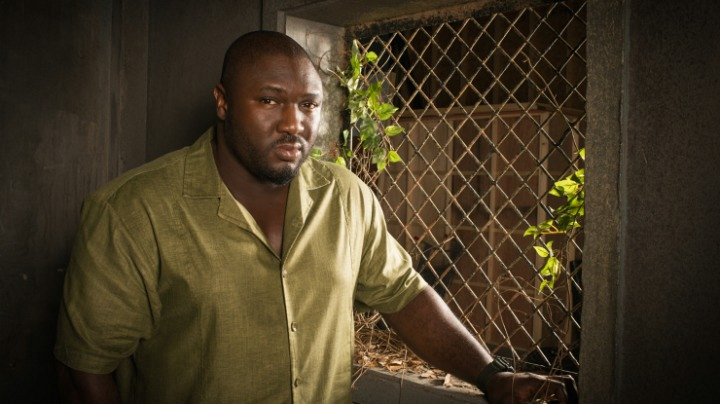 It's Nonso Anozie, who plays Abraham Kenyatta on <i>Zoo!</i>