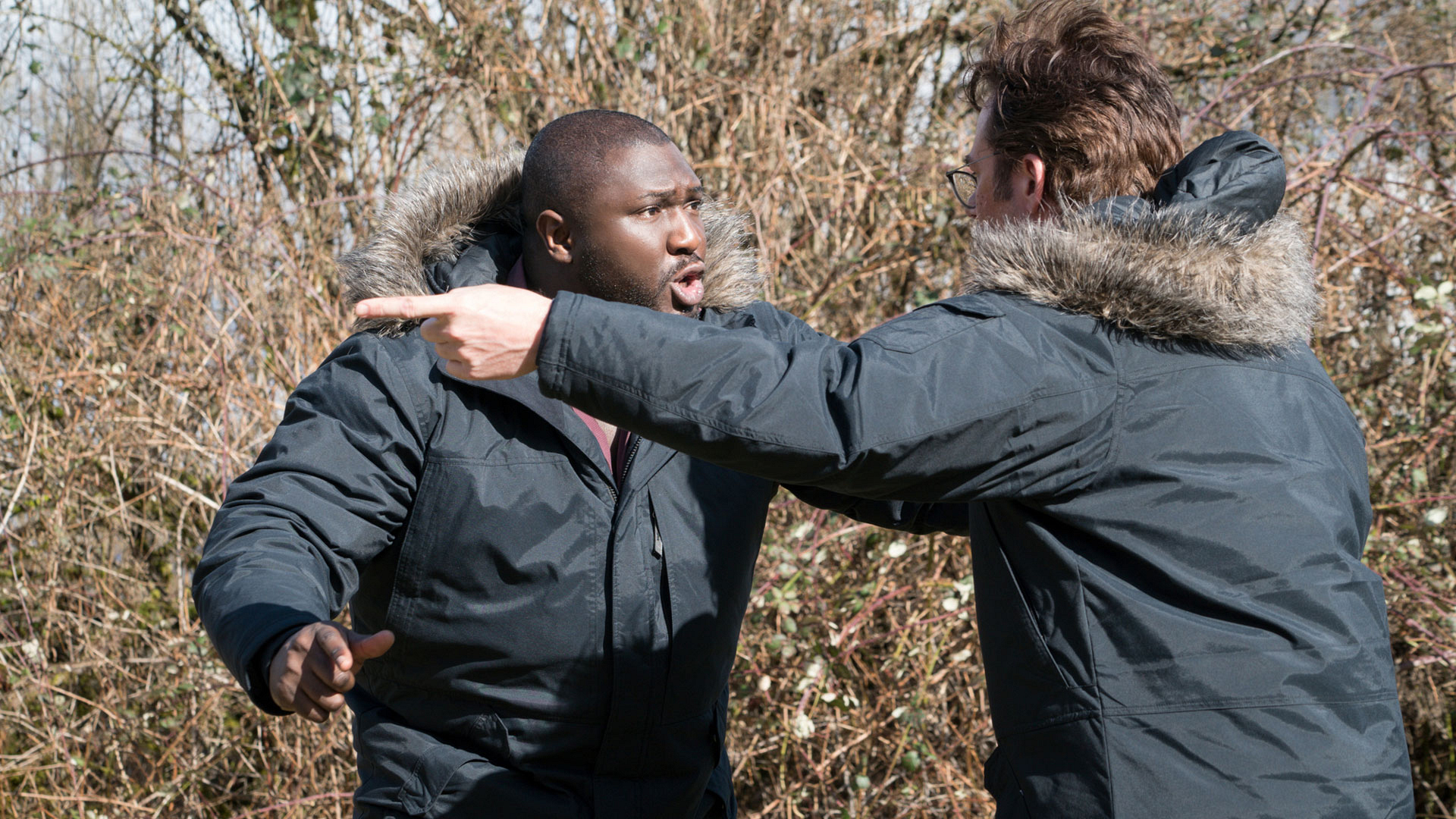Abraham Kenyatta and Mitch Morgan have a heated conversation.