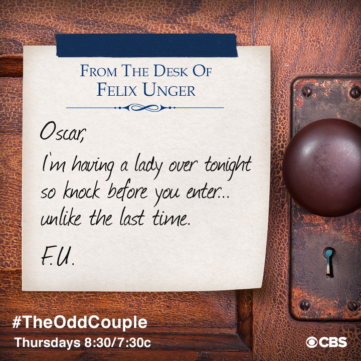 from the desk of felix unger page 4 the odd couple photos cbs com