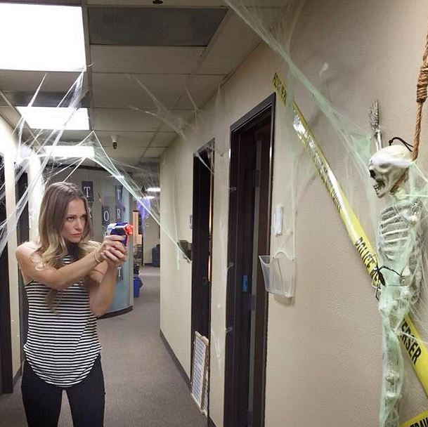 Criminal Minds Instagram: I'm taking over and yes, we take Halloween seriously around here. #handsup