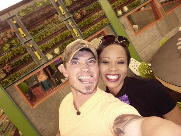 Caleb and Jocasta take a selfie