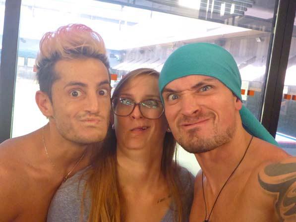 Frankie, Christine and Caleb