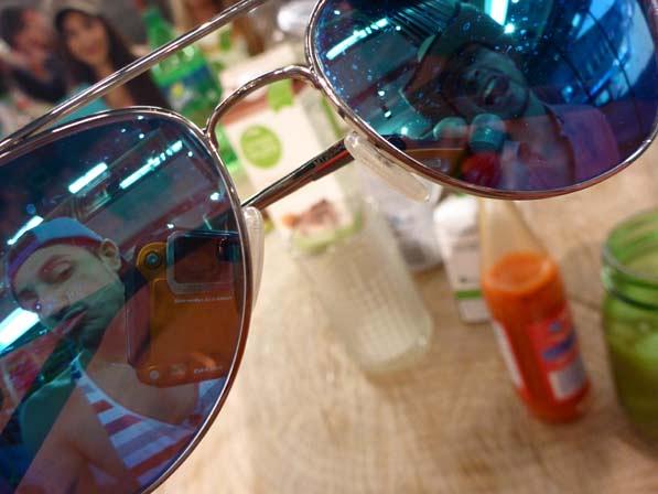 Sunglasses view