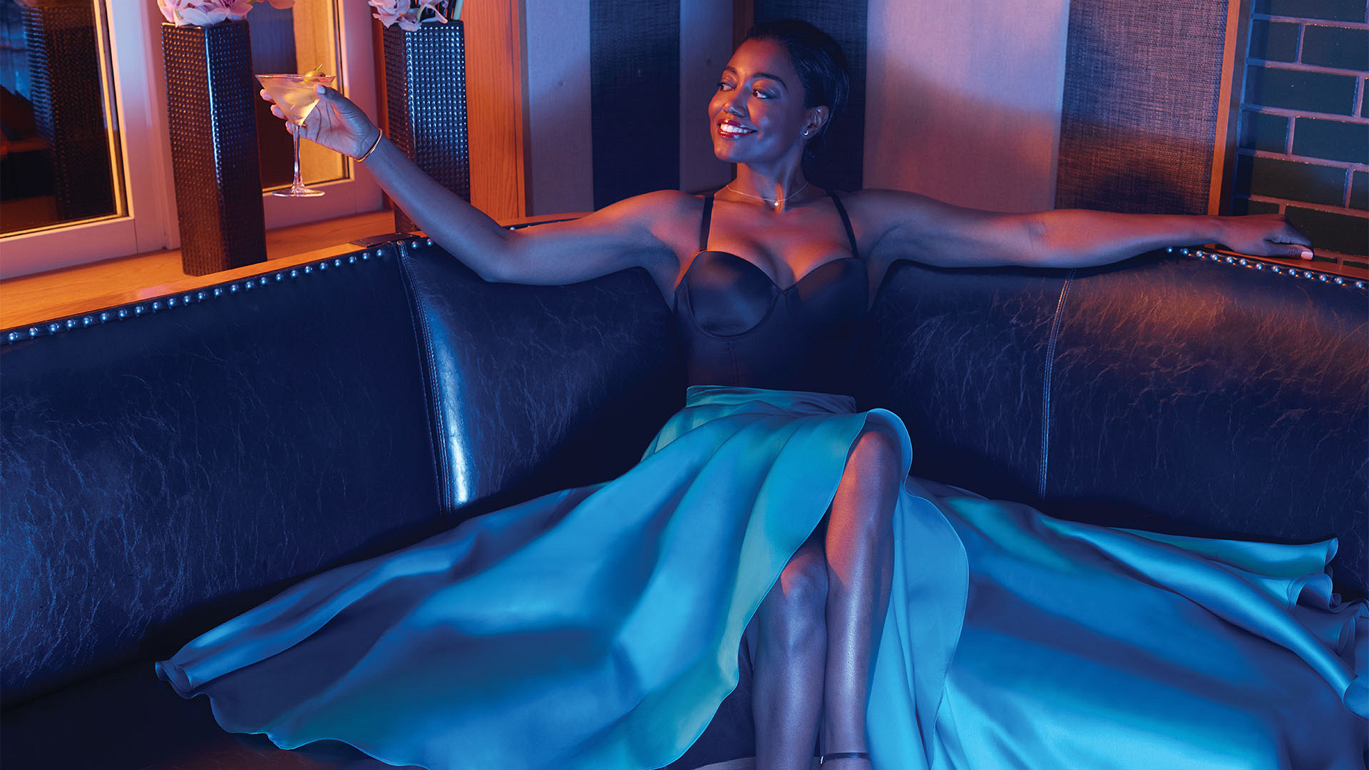 Patina Miller is poised and party perfect