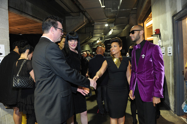 11. Tom Arnold, Paulie Perrette, Alicia Keys, Swizz Beatz