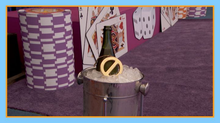 """Question: Where was the PoV necklace placed during the """"Gronk and Roll"""" competition?"""