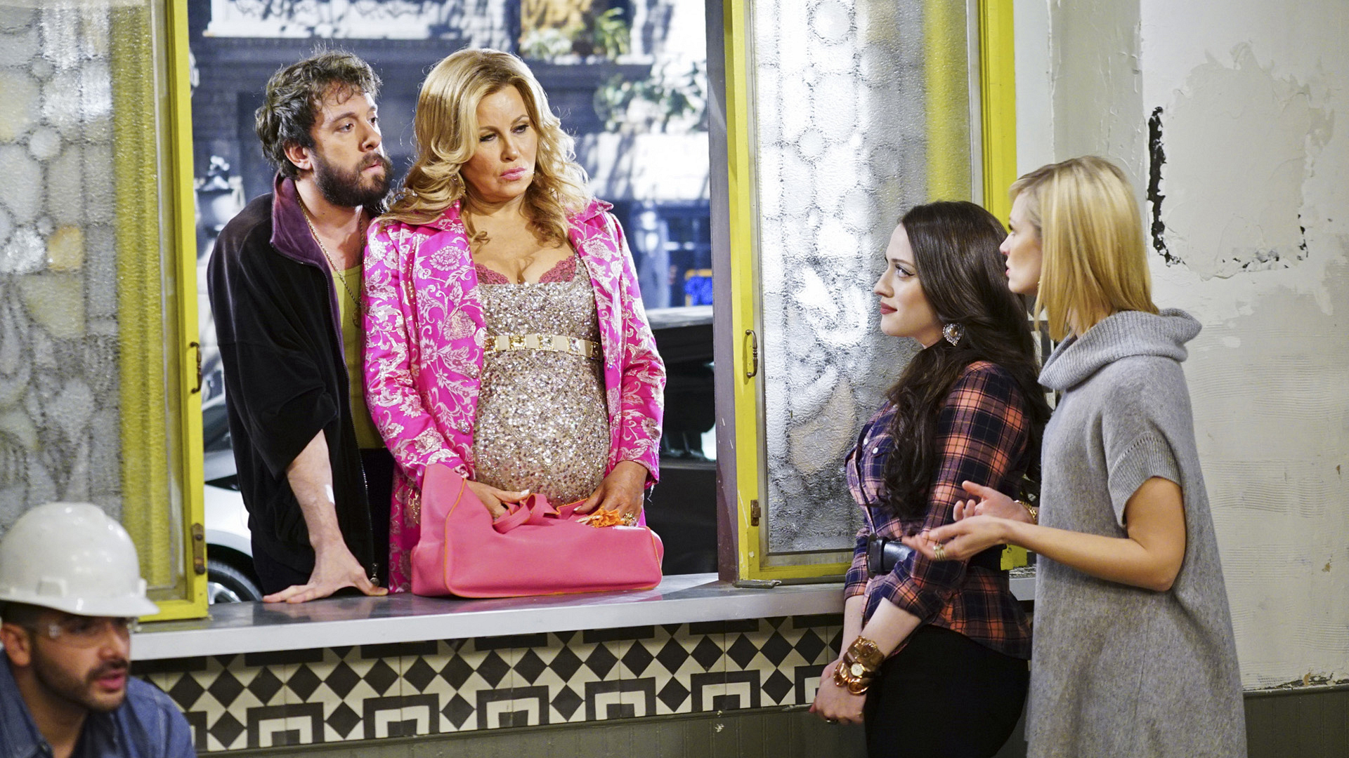 Sophie and Oleg learned they are expecting a child together on 2 Broke Girls.