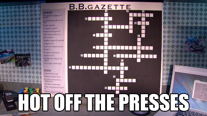 """Steve speeds through the """"B.B. Gazette"""" challenge to win Part 2 of the final HoH competition."""
