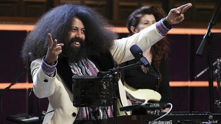 Reggie Watts werks it. Every. Single. Night.