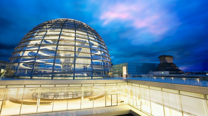 8. The Reichstag Dome in Berlin, Germany