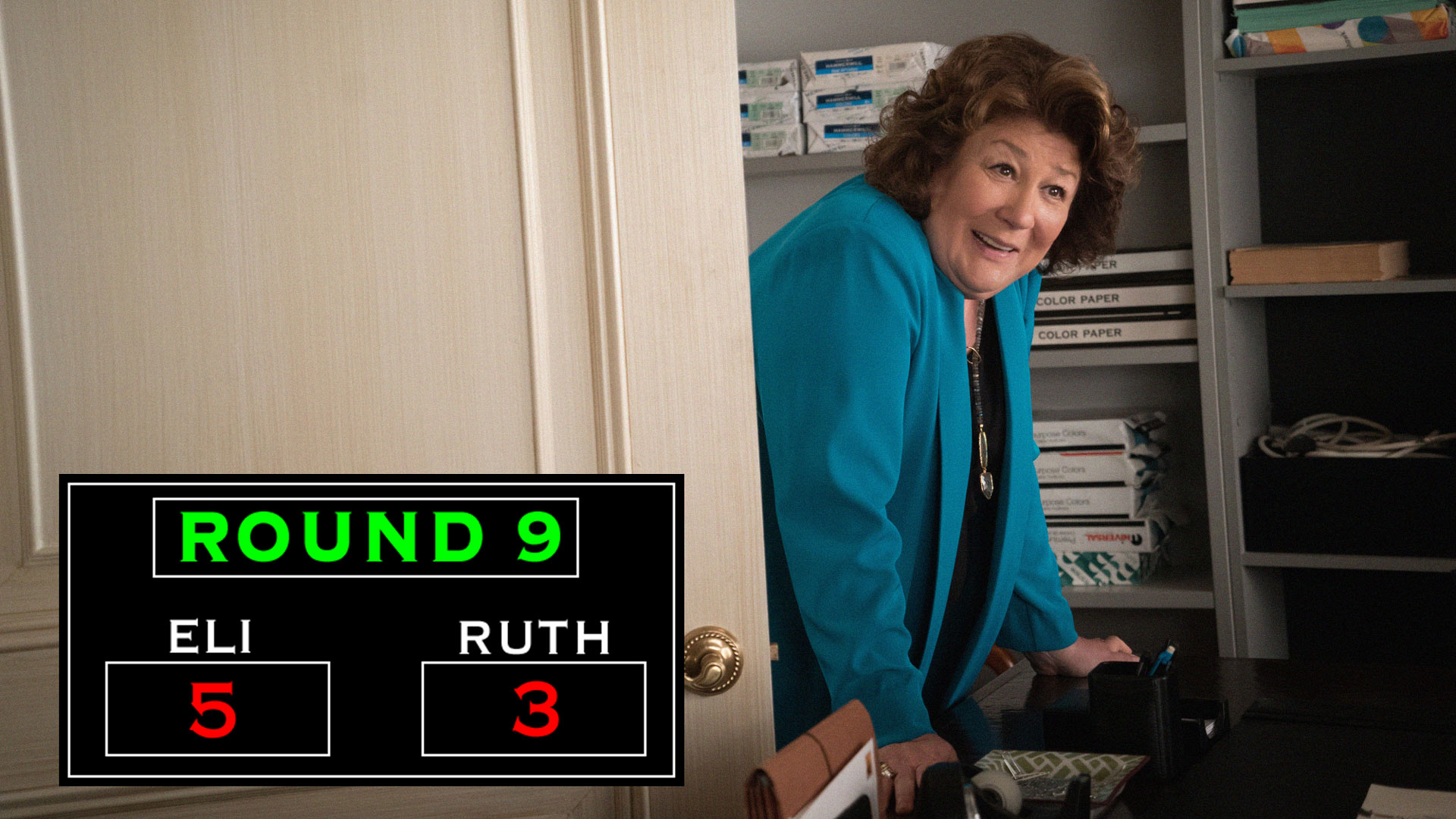 Round Nine: Ruth Puts Eli On The Ropes