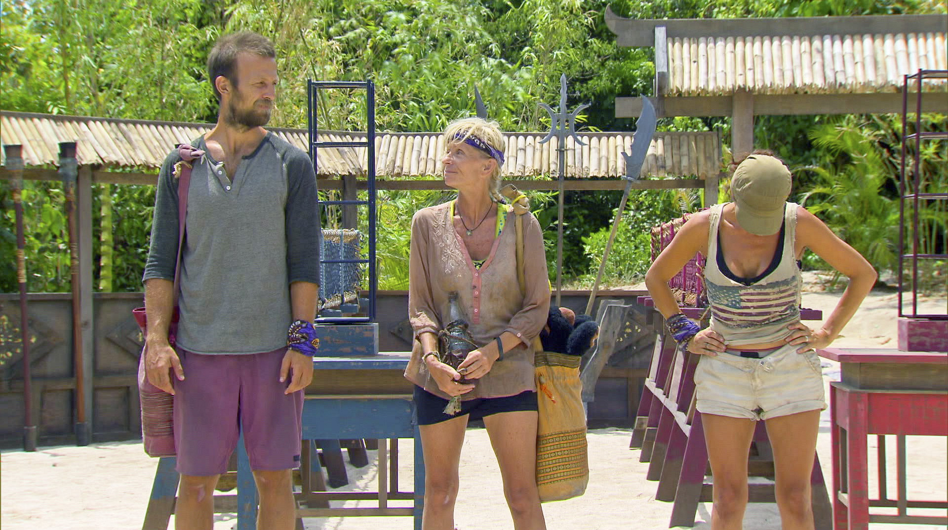 Vytas, Tina and Laura in Season 27 Episode 11
