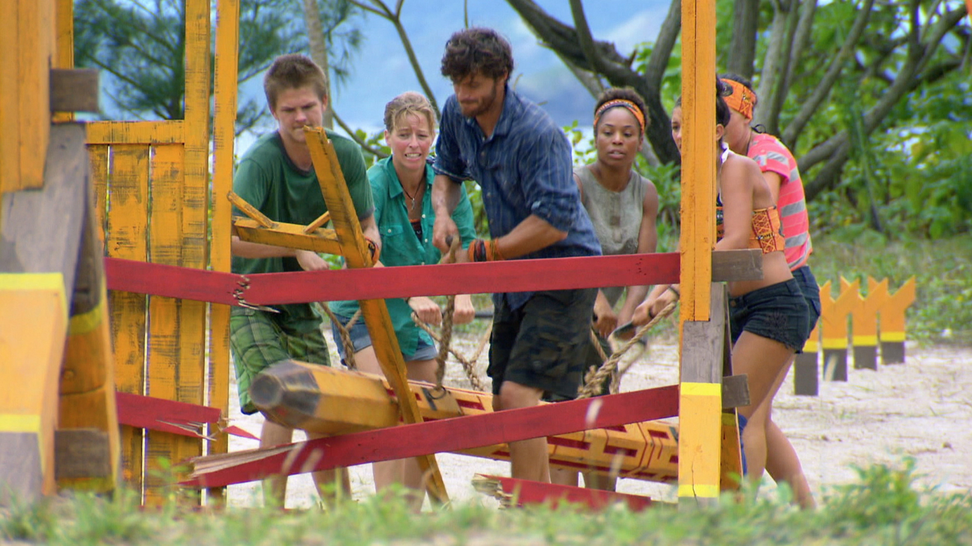 Immunity challenge in Season 28 Episode 4