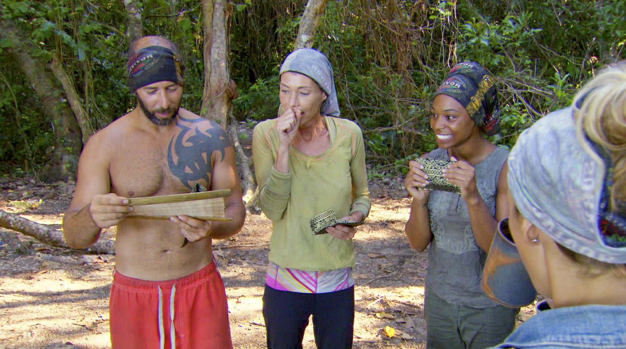 Reading about the Survivor Auction in Season 28 Episode 10