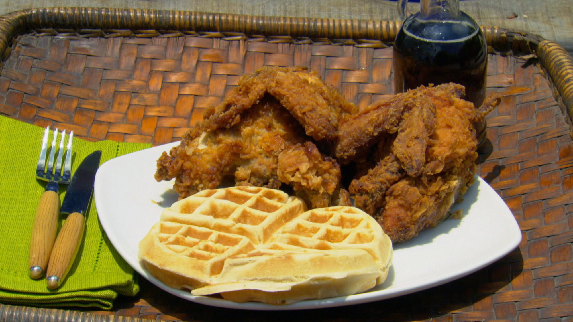 Chicken and waffles? Yes, please.