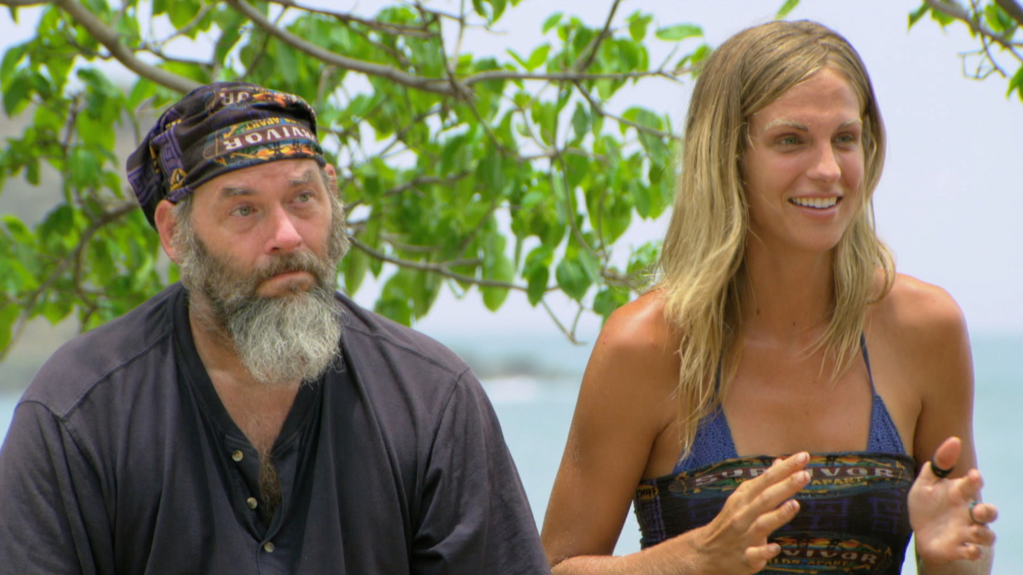 The castaways bring various expressions to the game