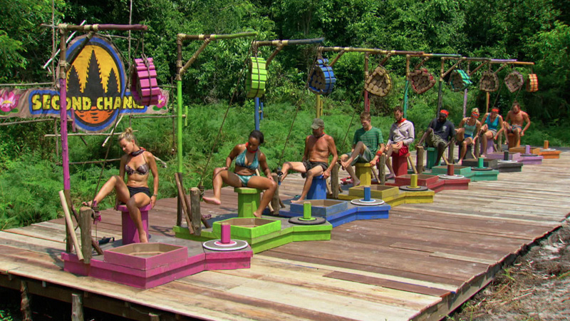 The castaways put their feet to work during the Individual Immunity Challenge.