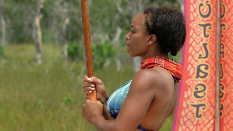 Tasha keeps focus during the Immunity Challenge.