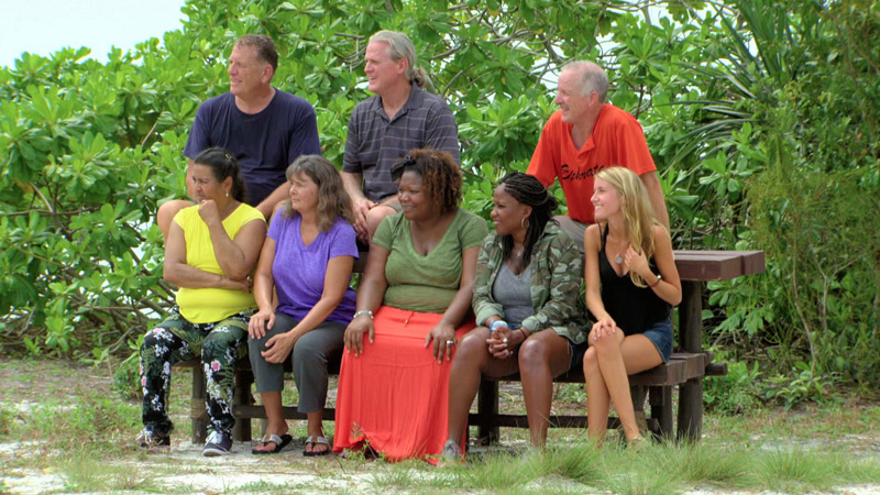 The castaways' loved ones look one as they get ready to compete.